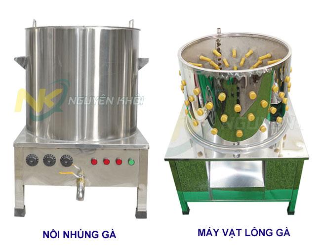 Bộ sản phẩm nồi nhúng gà + Máy vặt lông gà được khách hàng ưu tiên chọn mua