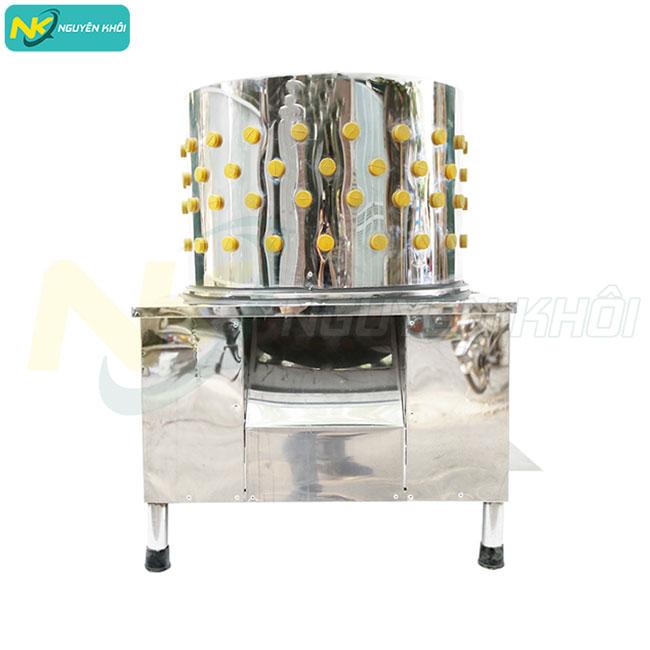 Máy vặt lông gà vịt Nguyên Khôi thiết kế đơn giản được làm từ chất liệu inox 304 cao cấp