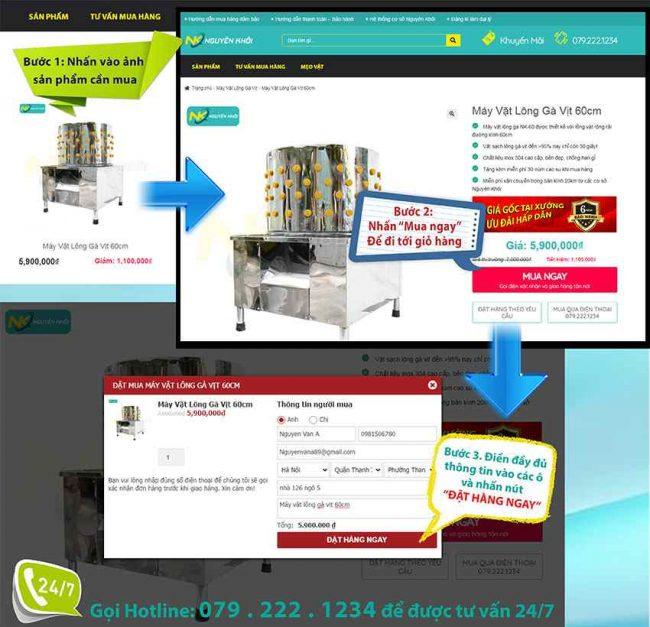 Hướng dẫn đặt mua Online trên website
