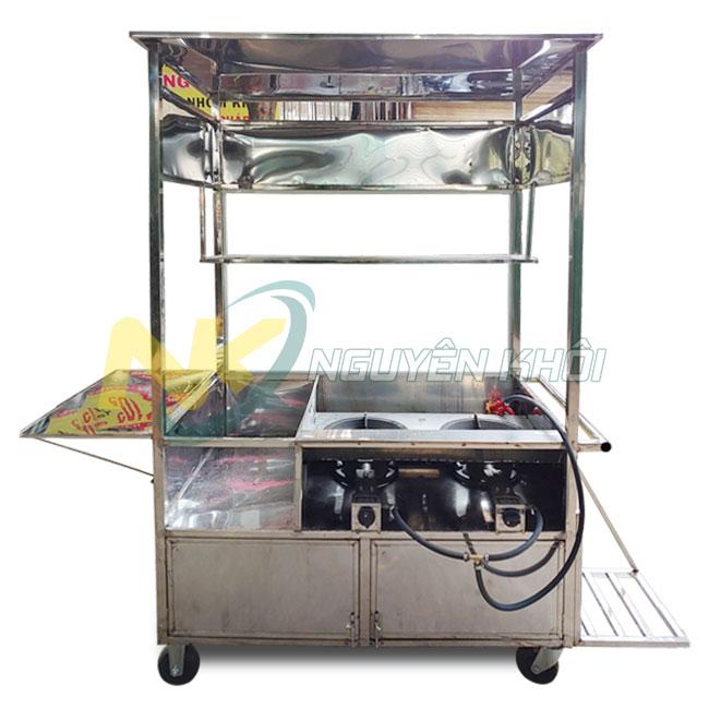 Thiết kế xe gà rán tích hợp bếp gas đôi