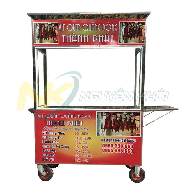 Tủ kính bán gà vịt quay Inox 304 giá rẻ