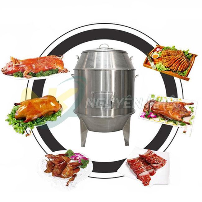 Lu nướng gà vịt, thịt heo miếng, heo sữa nguyên con, thịt thỏ,....