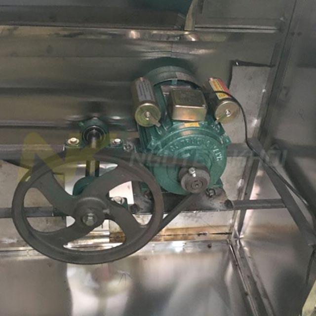 Động cơ máy làm lông chó Nguyên Khôi, motor và bánh đà