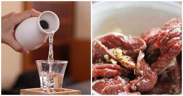 Khử mùi hôi của thịt dê bằng rượu, cách làm thịt dê hết hôi bằng rượu