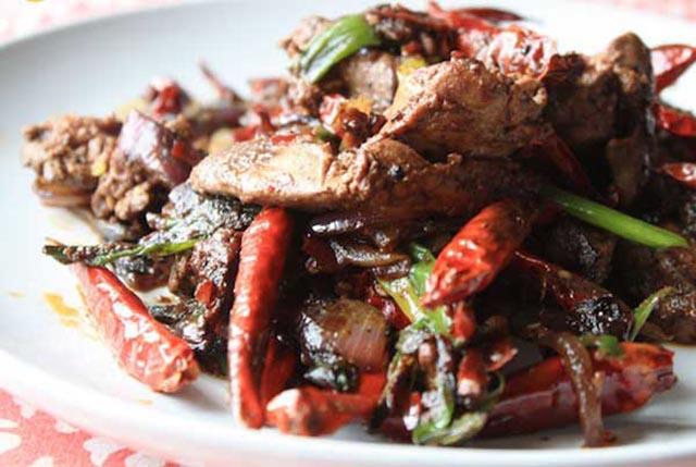 Lòng mề vịt xào húng quế hấp dẫn, món ăn từ lòng vịt