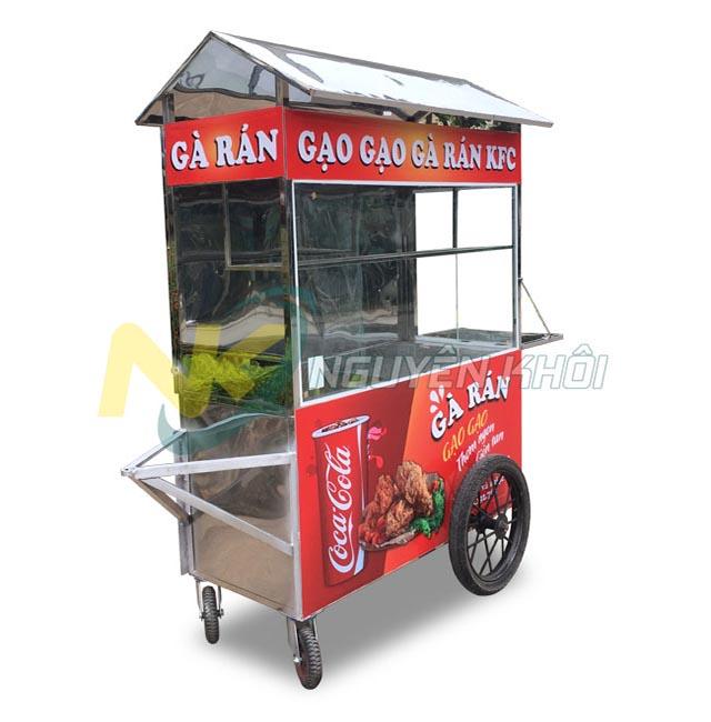 Xe đẩy bán gà rán, mô hình kinh doanh gà rán xe đẩy